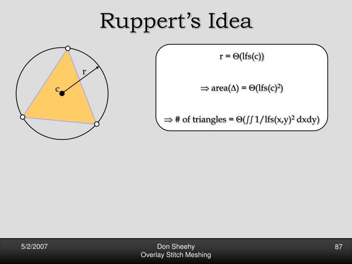 Ruppert's Idea