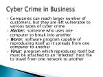 cyber crime in business