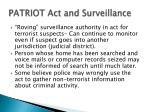 patriot act and surveillance