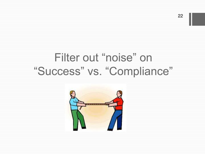 """Filter out """"noise"""" on"""