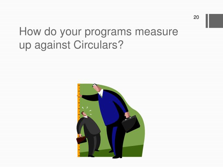 How do your programs measure up against Circulars?
