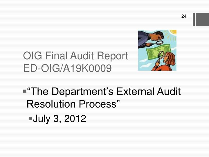 OIG Final Audit Report