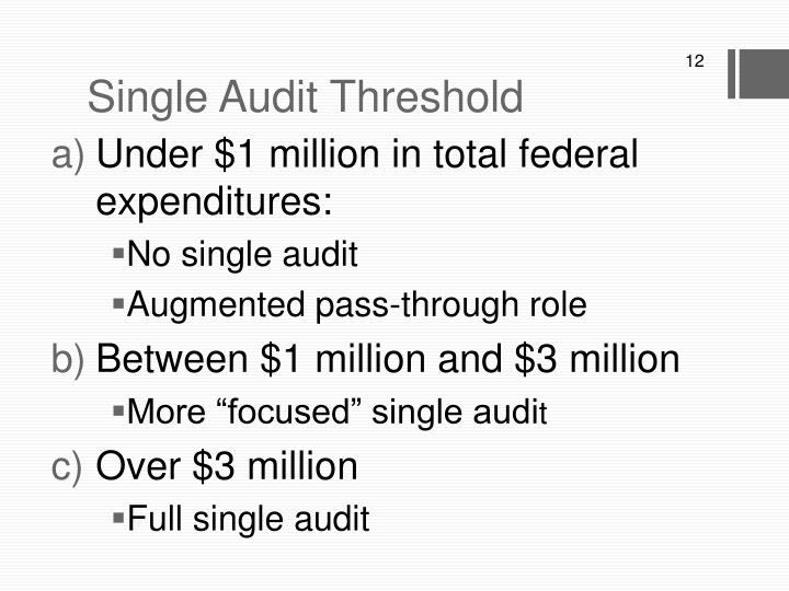 Single Audit Threshold