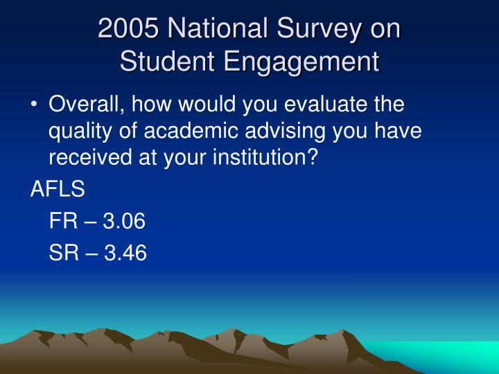 2005 National Survey on