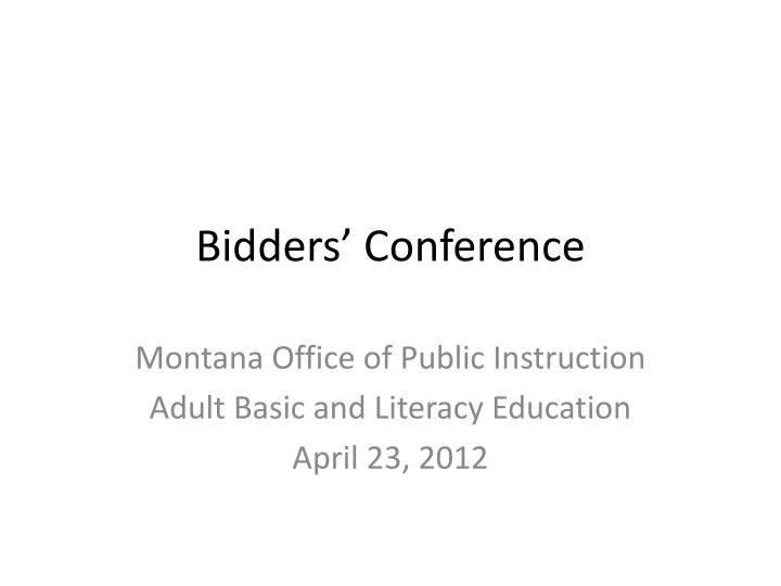 Bidders conference