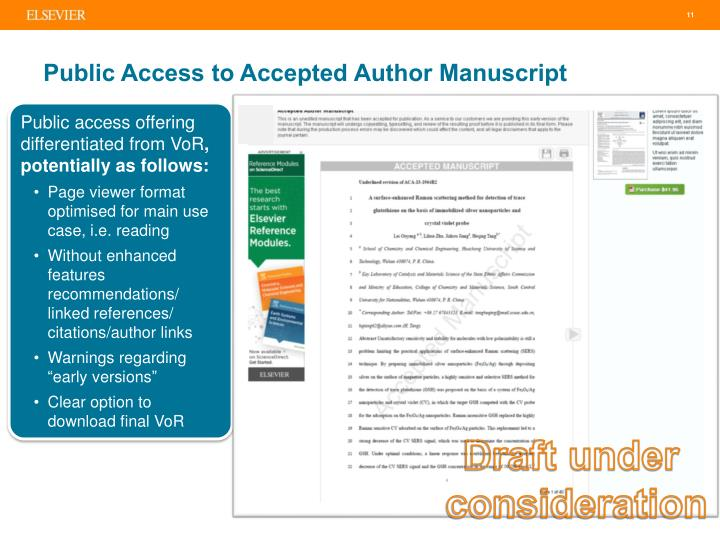Public Access to Accepted Author Manuscript