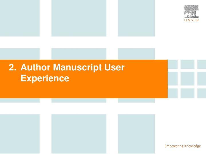 Author Manuscript User Experience