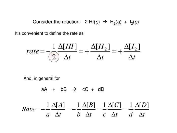 Consider the reaction    2 HI(