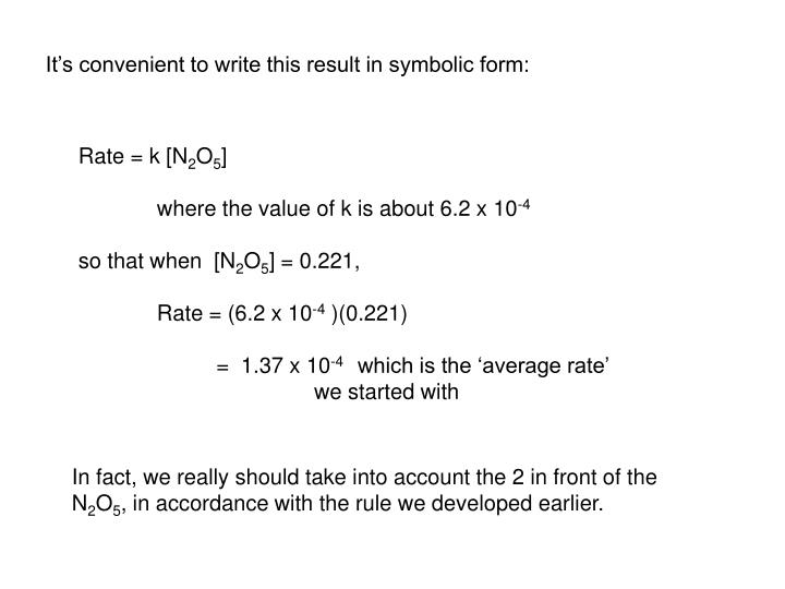 It's convenient to write this result in symbolic form: