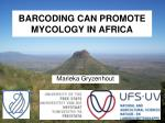 barcoding can promote mycology in africa