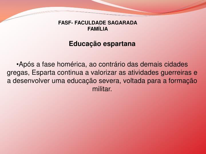 FASF- FACULDADE SAGARADA FAMÍLIA