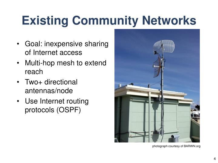 Existing Community Networks