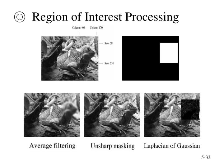 ◎  Region of Interest Processing