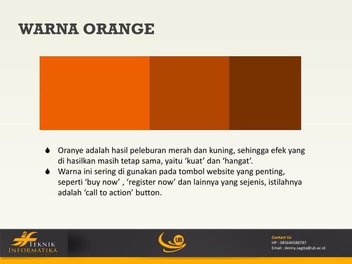 WARNA ORANGE