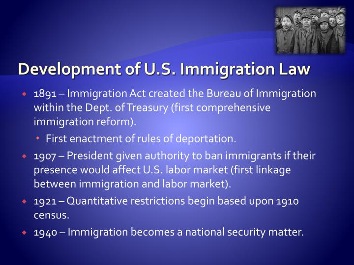 Development of U.S. Immigration Law
