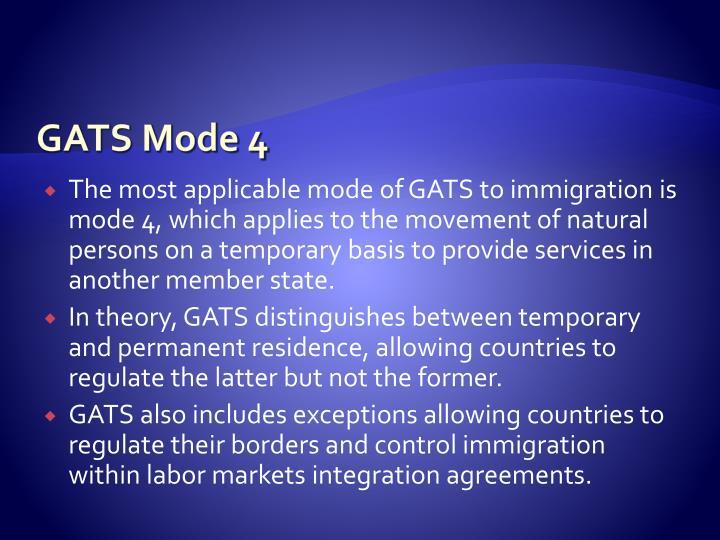 GATS Mode 4