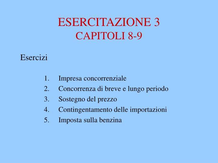 ESERCITAZIONE 3