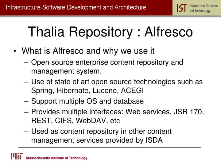 Thalia Repository : Alfresco