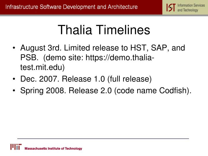 Thalia Timelines