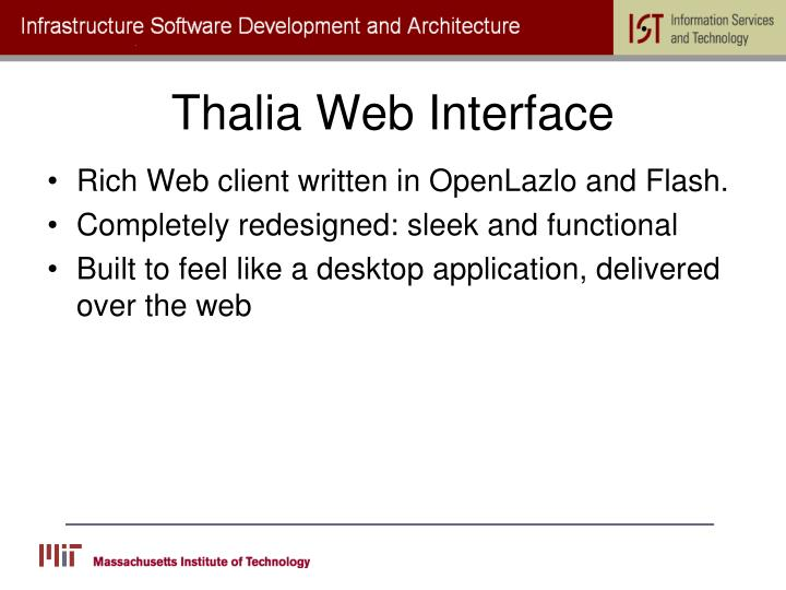 Thalia Web Interface