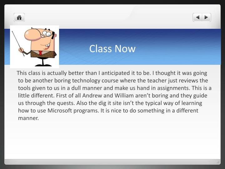 Class Now