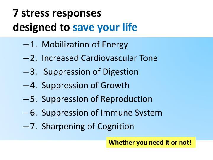 7 stress responses