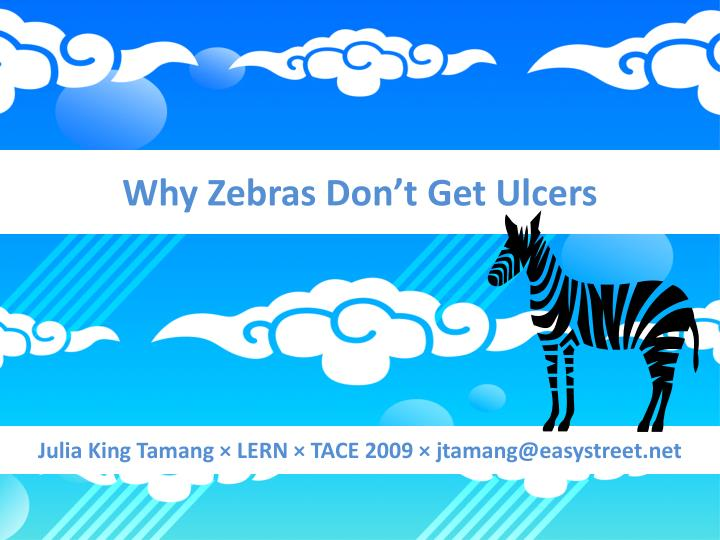 Why Zebras Don't