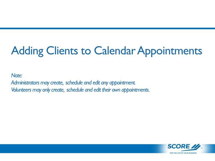 Adding Clients