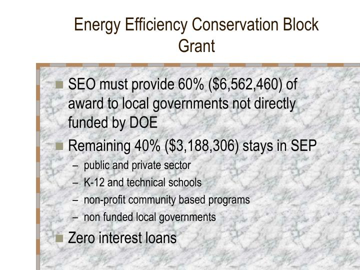 Energy Efficiency Conservation Block Grant