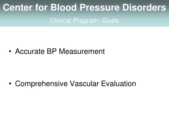 Center for Blood Pressure Disorders