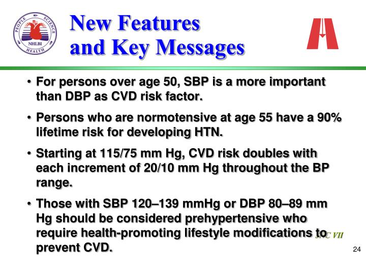For persons over age 50, SBP is a more important than DBP as CVD risk factor.