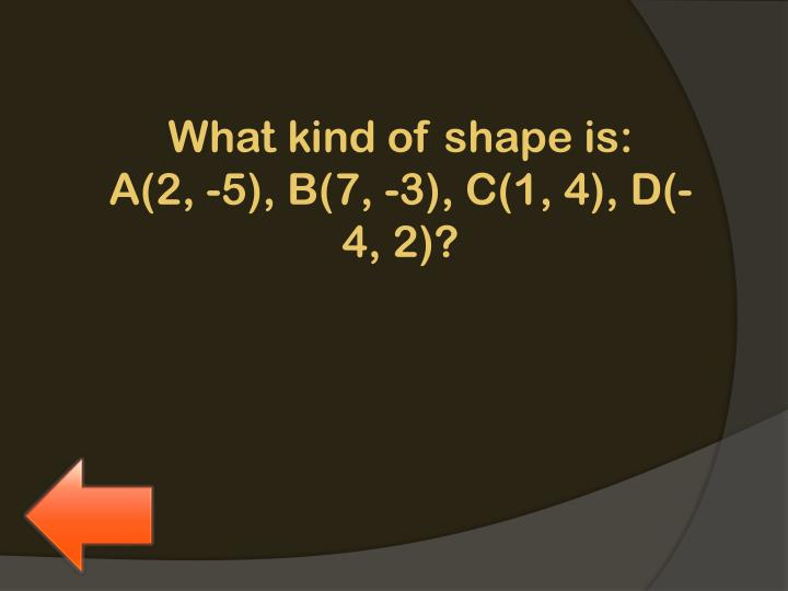 What kind of shape is:
