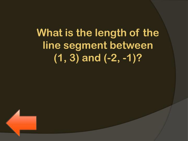 What is the length of the line segment between