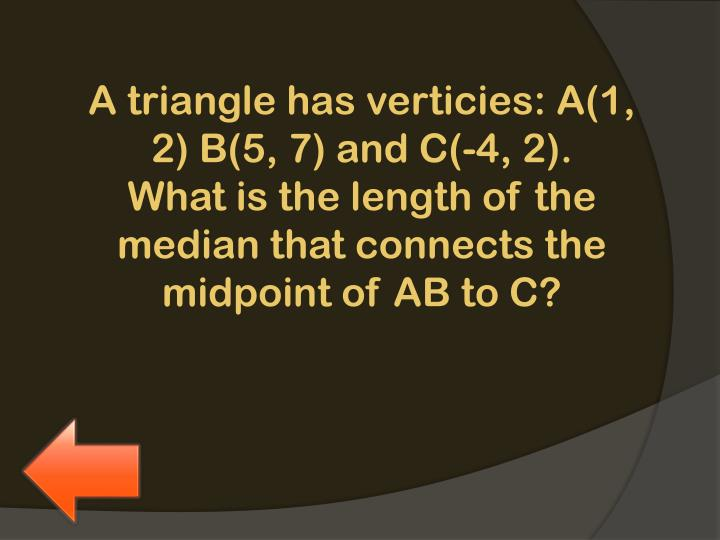A triangle has