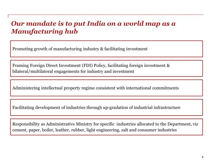 Our mandate is to put india on a world map as a manufacturing hub