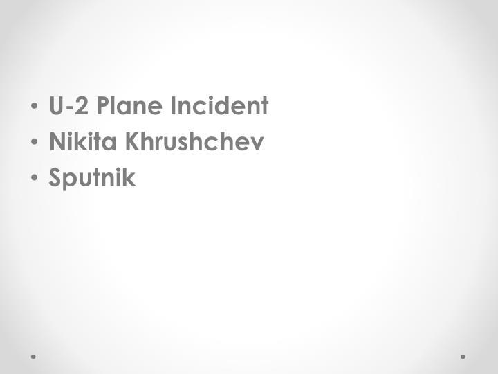U-2 Plane Incident