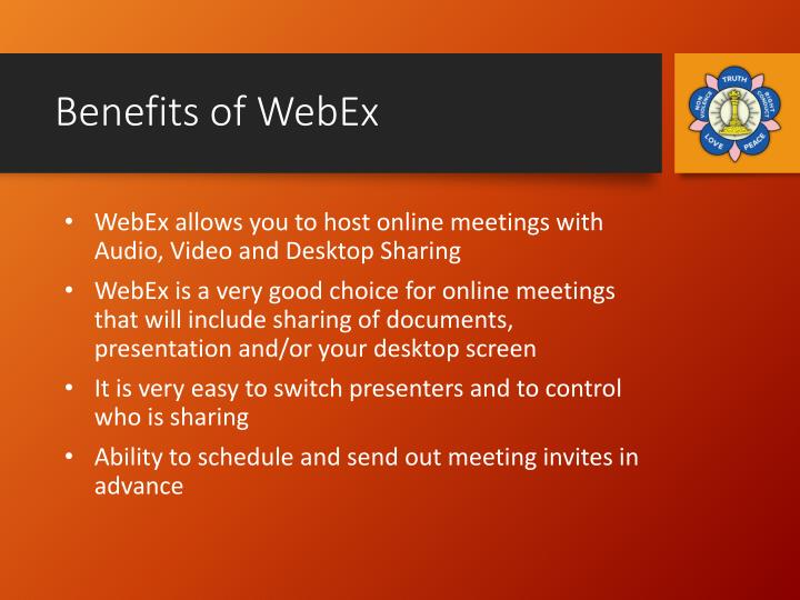 Benefits of WebEx