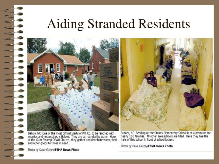 Aiding Stranded Residents