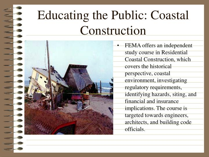 Educating the Public: Coastal Construction