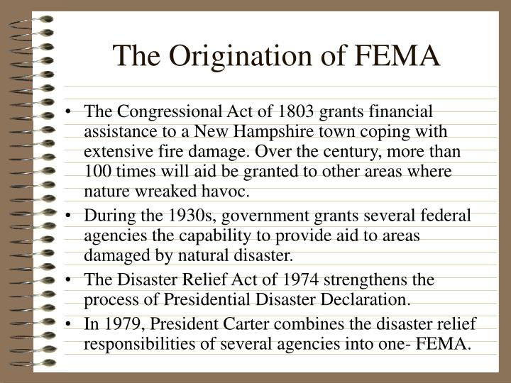 The origination of fema