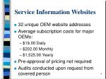 service information websites