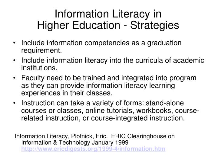 Information Literacy in