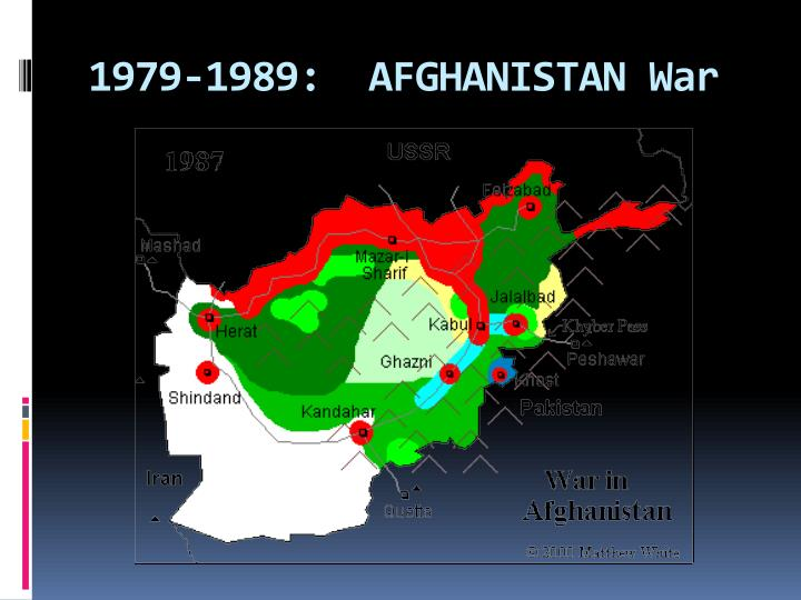 1979-1989:  AFGHANISTAN War