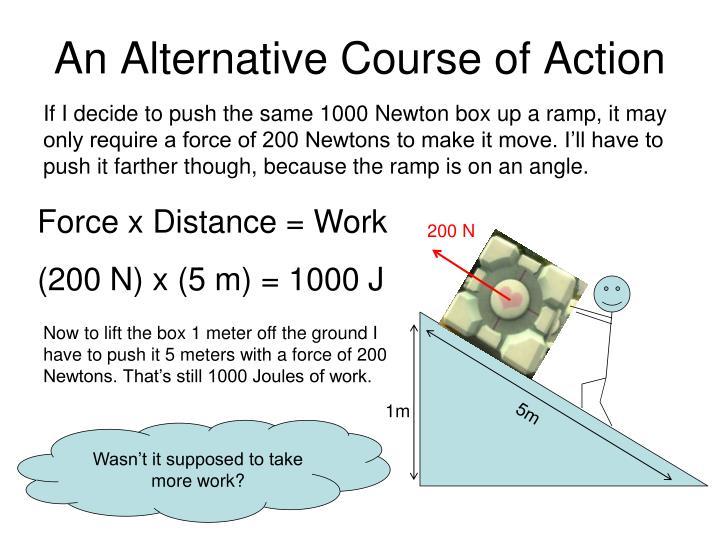 An Alternative Course of Action