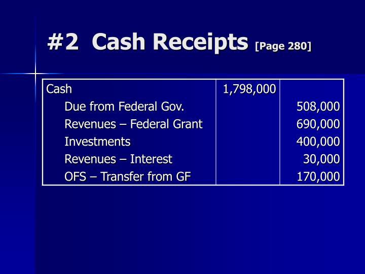 #2  Cash Receipts
