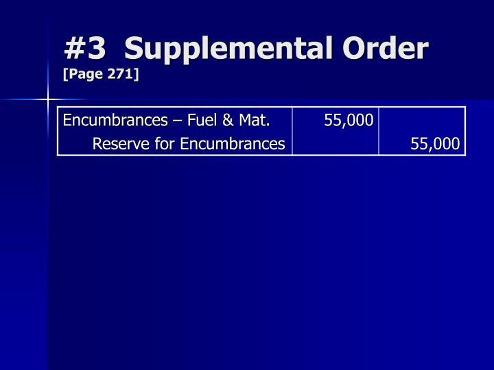 #3  Supplemental Order