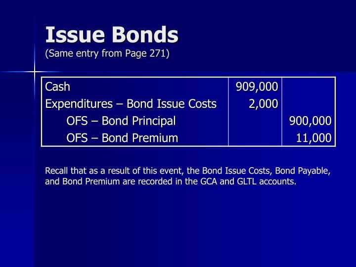 Issue Bonds