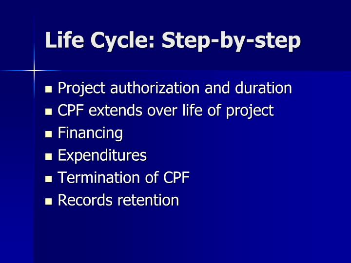 Life Cycle: Step-by-step