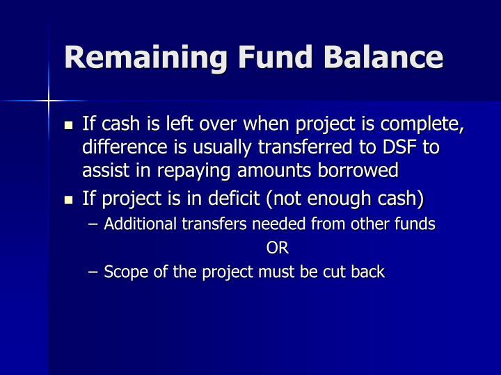 Remaining Fund Balance