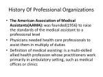 history of professional organizations